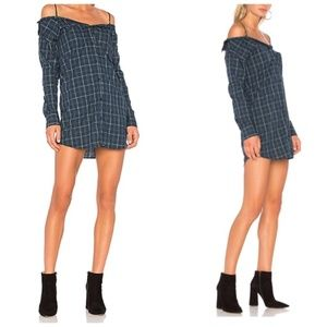 Bailey 44 Anglin Plaid Off the Shoulder Dress